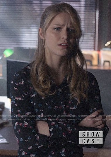 Kara's floral shirt on Supergirl
