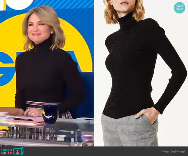 Roll Neck Jumper by Karen Millen worn by Amy Robach (Amy Robach) on Good Morning America