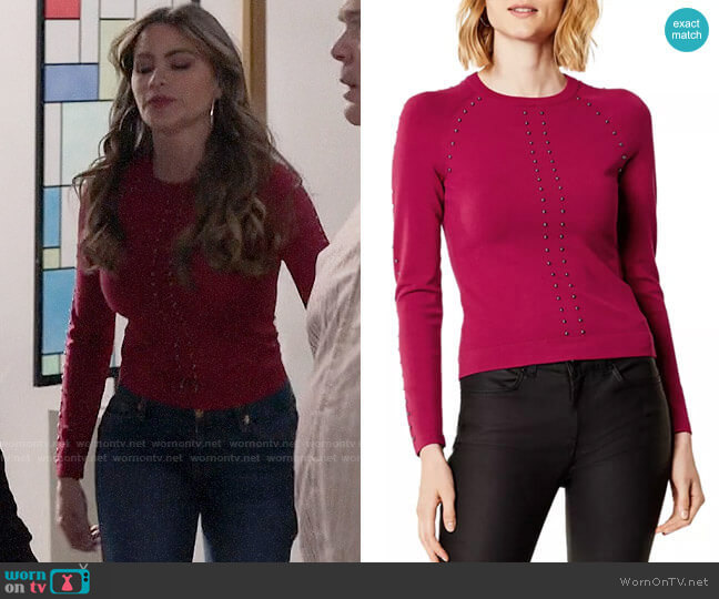 Karen Millen Studded Sweater worn by  Gloria Pritchett (Sofia Vergara) on Modern Family