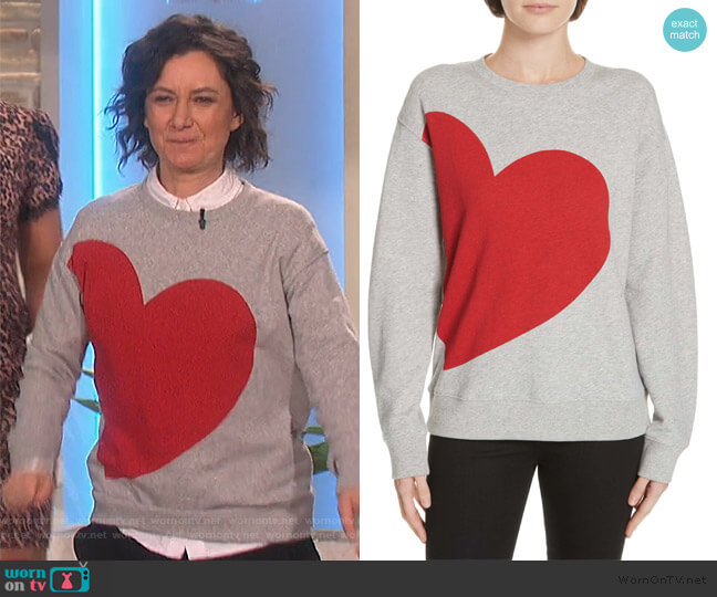 Heat Sweatshirt by Kate Spade worn by Sara Gilbert  on The Talk