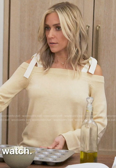 Kristin's tie-shoulder sweater on Very Cavallari