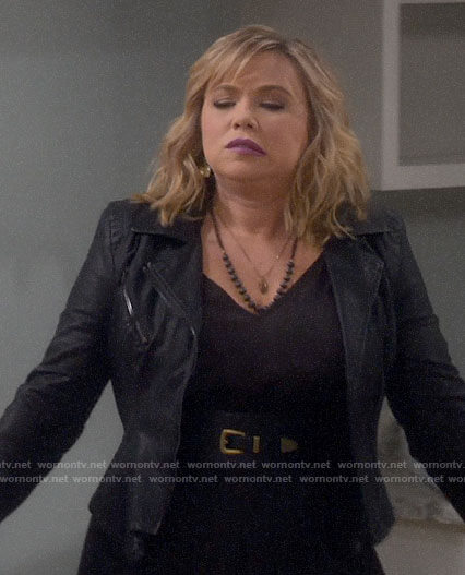 Kristin's leather jacket on Last Man Standing