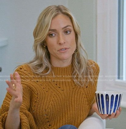 Kristin's mustard sweater on Very Cavallari