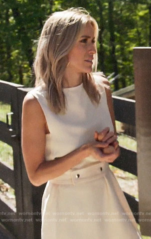 Kristin's white asymmetric top on Very Cavallari