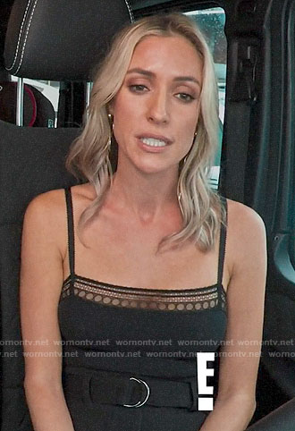 Kristin's black lace-trim cami on Very Cavallari
