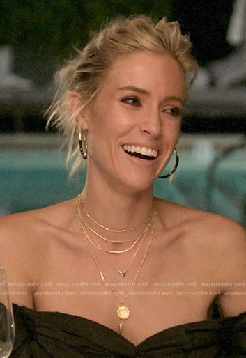 Kristin's jewelry at dinner on Very Cavallari