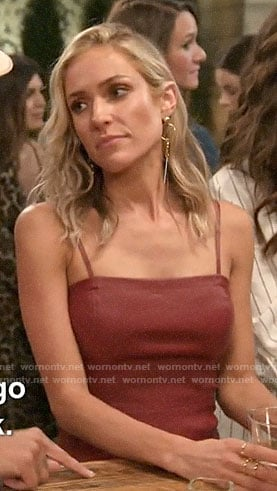 Kristin's red leather mini dress on Very Cavallari