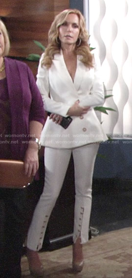 Lauren's white suit on The Young and the Restless