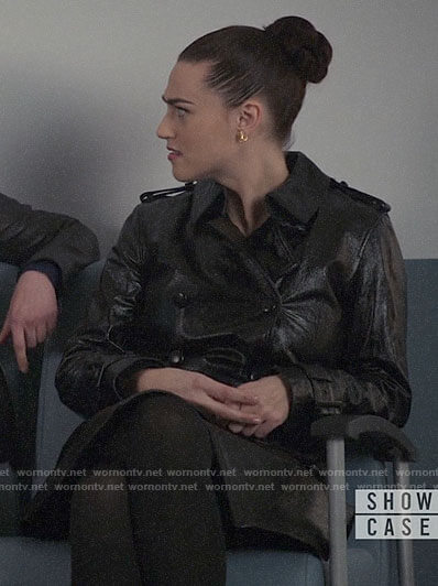 Lena's leather trench coat on Supergirl