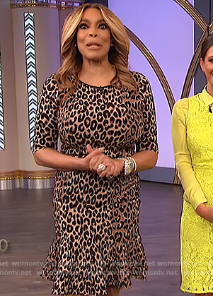 Wendy's leopard print midi dress on The Wendy Williams Show