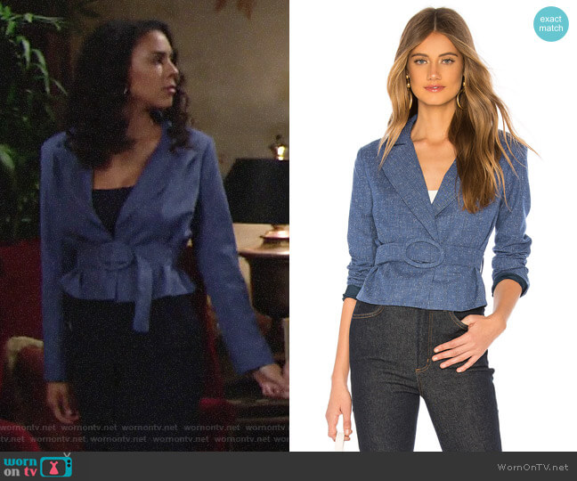 Lovers + Friends Alaina Blazer worn by Kerry Johnson (Alice Hunter) on The Young & the Restless