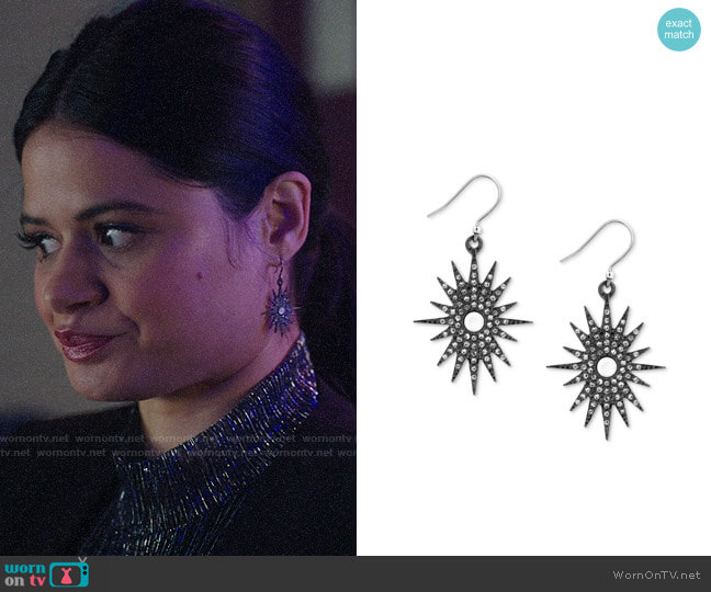 Lucky Brand Starburst Drop Earrings worn by Mel Vera (Melonie Diaz) on Charmed
