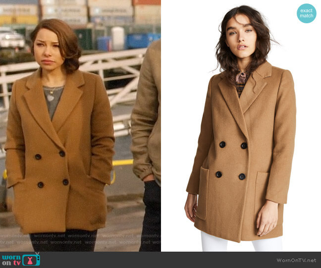 Madewell Hollis Double-Breasted Coat worn by Nora West-Allen (Jessica Parker Kennedy) on The Flash