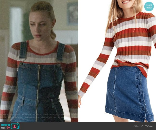 Madewell Clarkwell Pullover Sweater worn by Betty Cooper (Lili Reinhart) on Riverdale