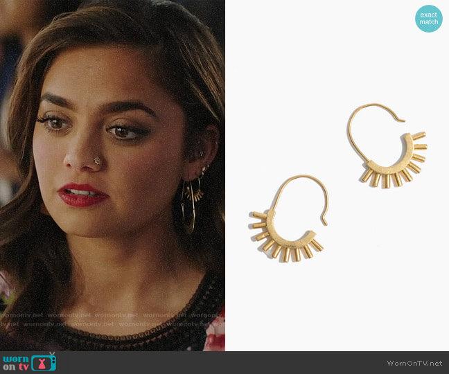 Madewell Succulent Drop Earrings worn by Jaya (Shazi Raja) on God Friended Me