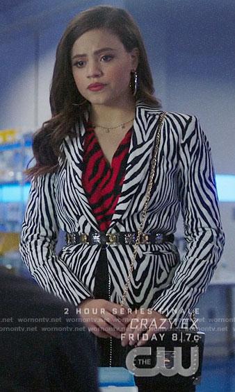 Maggie's zebra print blazer on Charmed