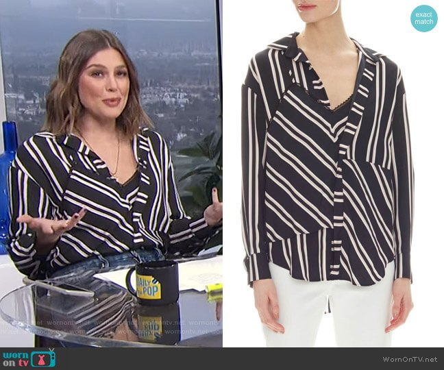Larencia Blouse by Maje worn by Carissa Loethen Culiner  on E! News
