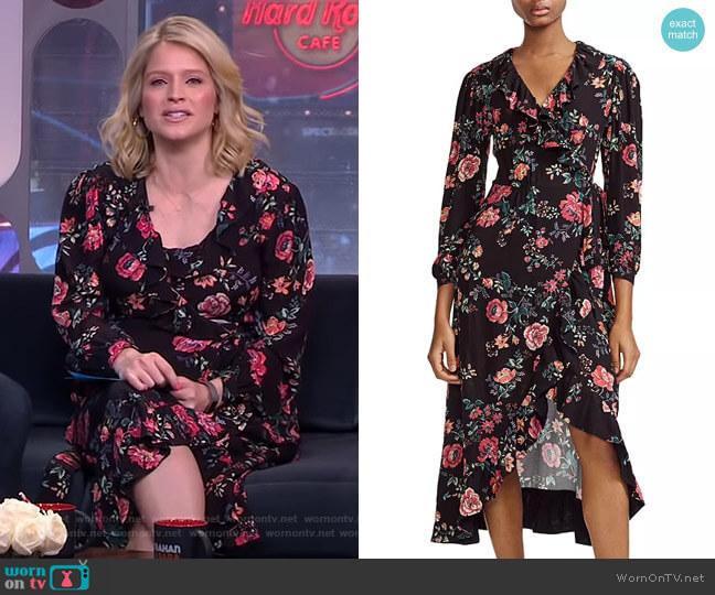 Rosetina Wrap Dress by Maje worn by Sara Haines  on Good Morning America