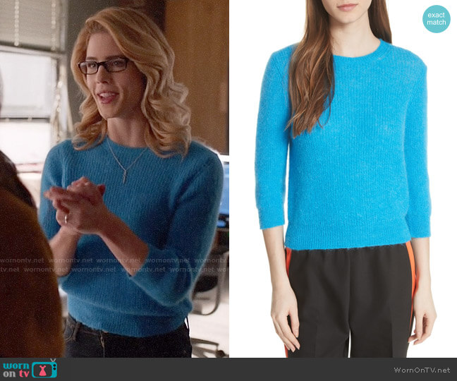 Maje Marcel Sweater worn by Felicity Smoak (Emily Bett Rickards) on Arrow
