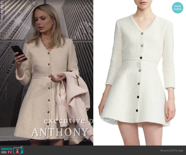 Maje Ryzer Dress worn by Abby Newman (Melissa Ordway) on The Young & the Restless
