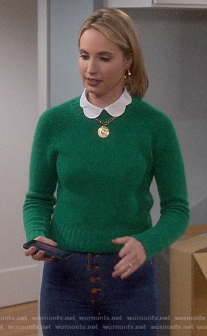 Mandy's green sweater on Last Man Standing