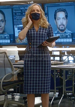 Marissa's blue checked dress on Bull