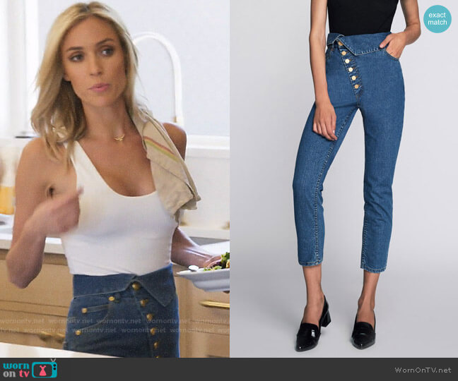 Marissa Webb Erica Denim Pants worn by Kristin Cavallari  on Very Cavallari