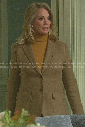 Marlena's herringbone blazer on Days of our Lives