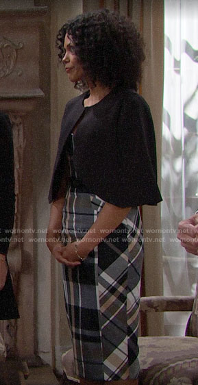 Maya's plaid dress on The Bold and the Beautiful