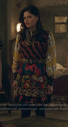 Mel (Maggie)'s patchwork floral dress on Charmed