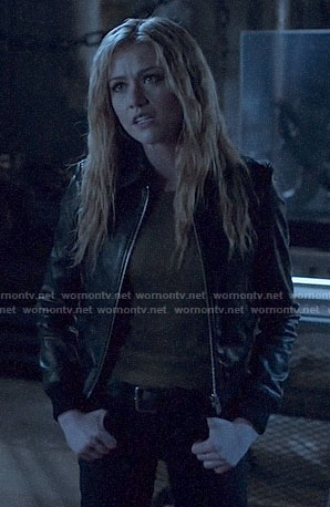 Mia's leather bomber jacket on Arrow