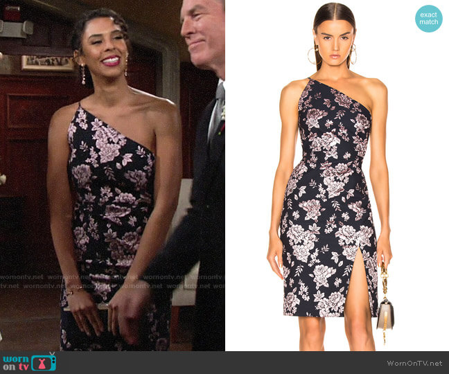 Michelle Mason Asymmetric Dress worn by Kerry Johnson (Alice Hunter) on The Young & the Restless