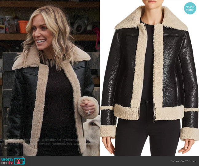 Mother The Boxy Faux Shearling Moto Jacket worn by Kristin Cavallari  on Very Cavallari