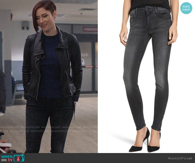 Mother The Looker Mid Rise Skinny Jeans worn by Alex Danvers (Chyler Leigh) on Supergirl