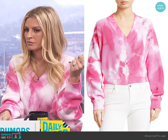 Tie-Dye Cotton Knit by MSGM worn by Morgan Stewart  on E! News