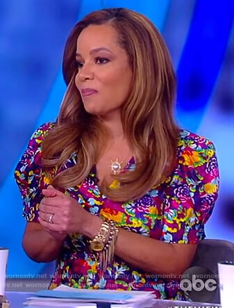 Sunny's multicolored floral dress on The View
