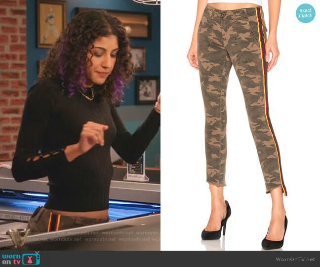 Camo Side Stripe Pant by Pam & Gela worn by Heather Davis (Vella Lovell) on Crazy Ex-Girlfriend