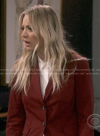 Penny's burgundy suit on The Big Bang Theory