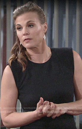 Phyllis's pinstriped sheath dress on The Young and the Restless