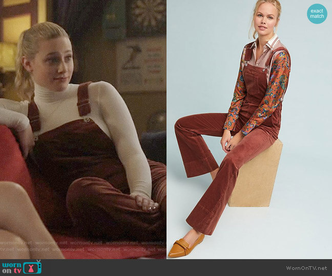 Pilcro and the Letterpress Corduroy Overalls worn by Betty Cooper (Lili Reinhart) on Riverdale