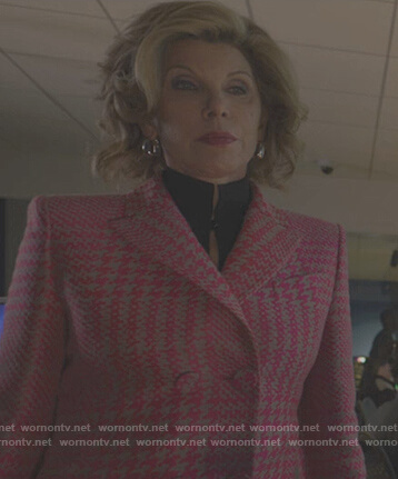 Diane's pink houndstooth jacket on The Good Fight