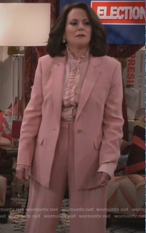 Karen's pink blazer and pants on Will and Grace