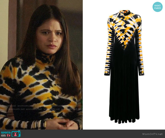 Proenza Schouler Tie Dye Maxi Dress worn by Mel Vera (Melonie Diaz) on Charmed