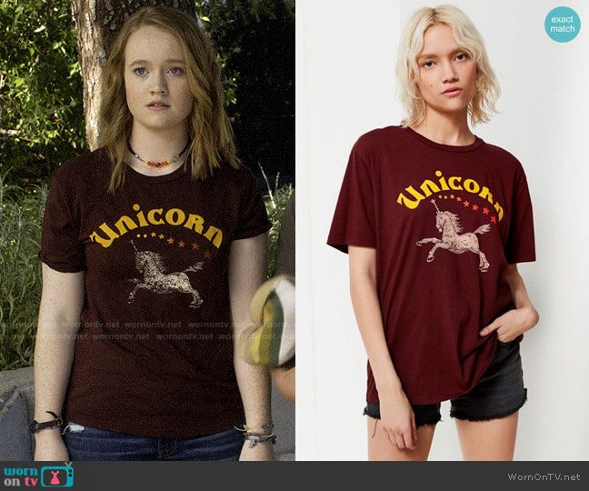 Project Social T Unicorn Tee worn by Abby Hammond (Liv Hewson) on Santa Clarita Diet