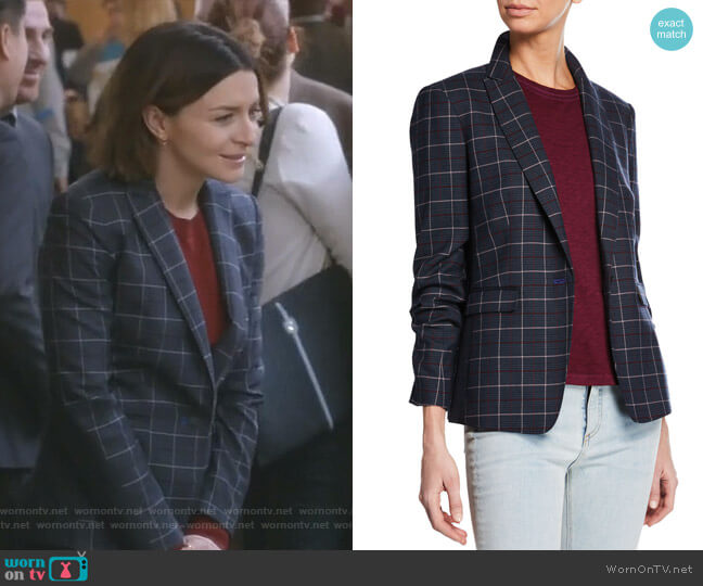 Lexington Blazer by Rag & Bone worn by Amelia Shepherd (Caterina Scorsone) on Greys Anatomy