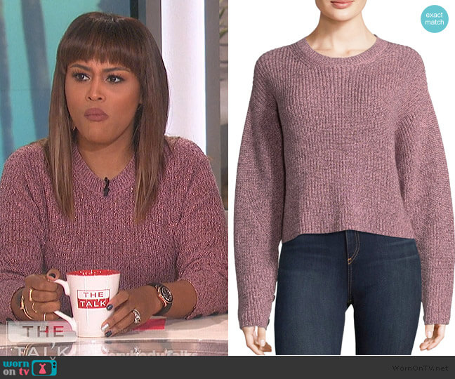 Lurex Crewneck Sweater by Rag & Bone worn by Eve (Eve) on The Talk