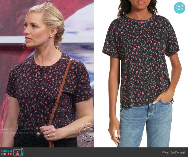 Rag & Bone Floral Vintage Tee worn by Gemma (Beth Behrs) on The Neighborhood