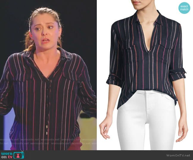 Selena Top in Baja Stripe by Rails worn by Rebecca Bunch (Rachel Bloom) on Crazy Ex-Girlfriend