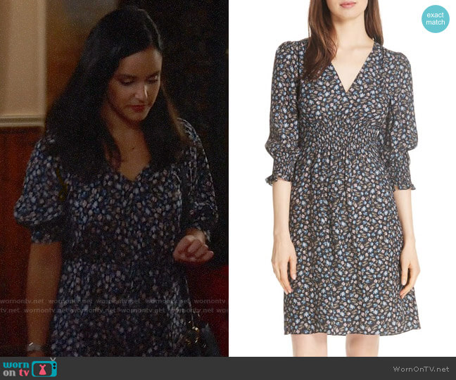 Rebecca Taylor Zelma Dress worn by Amy Santiago (Melissa Fumero) on Brooklyn Nine-Nine