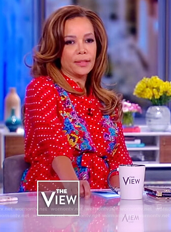 Sunny's red doted dress on The View